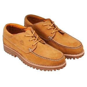 TIMBERLAND • Jackson's Landing Oxford Wheat Nubuck Loafers MocToe Shoes